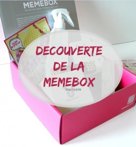 Revue de la Memebox, la box tout droit venue de Corée