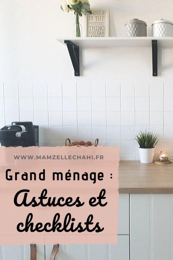 Planning grand ménage